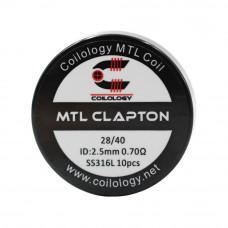 rezistenta SS316L MTL Clapton 0.70Ω